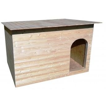 Zateplená psí bouda - Natur (s plochou střechou)